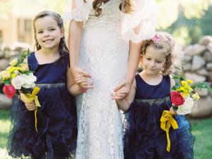 Flower Girls in Navy
