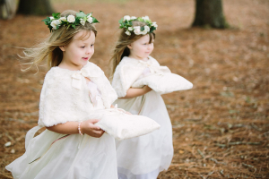 Flower Girls with Pillows