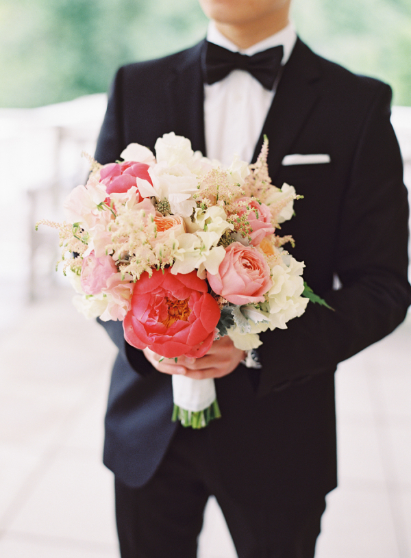 Fluffy Pink and Red Bouquet
