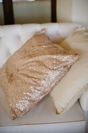 Glittery Gold Throw Pillows