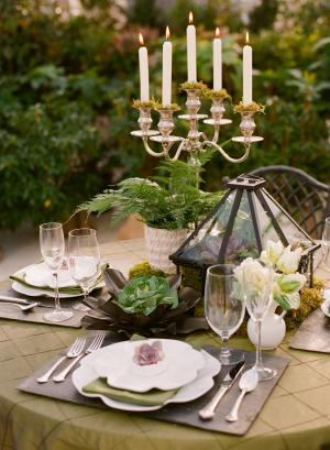Gold and Green Wedding Table Inspiration