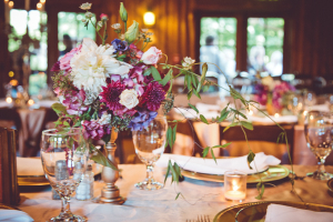 Gold and Purple Wedding Reception
