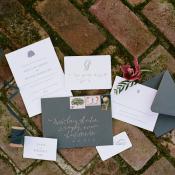 Gray and Cream Wedding Stationery
