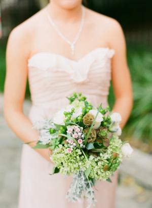 Green Hydrangea Bouquet