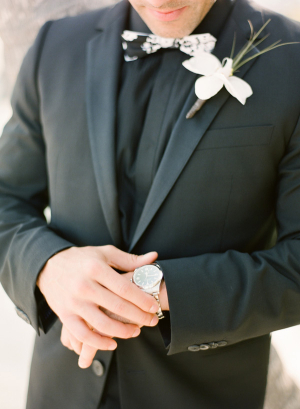 Groom in Black Suit