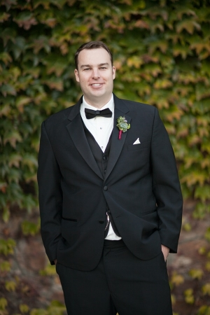 Groom with Green Boutonniere