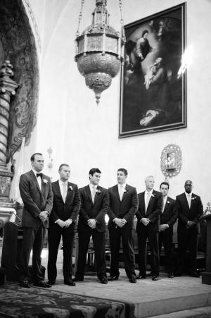Groomsmen at Wedding Ceremony