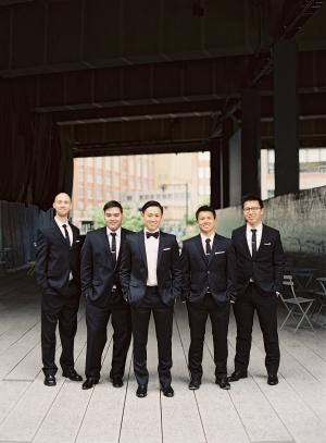 Groomsmen in Classic Tuxedos1