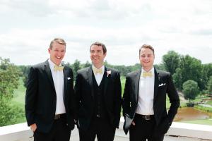 Groomsmen in Yellow Bow Ties