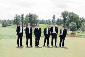 Groomsmen on Golf Course