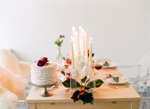 Holiday Tabletop with Taper Candles