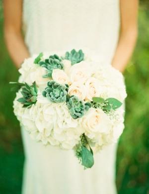 Hydrangea Rose Succulent Bouquet