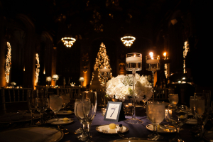 Hydrangea and Candle Centerpiece