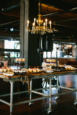 Industrial Style Reception Dessert Table
