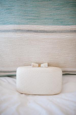 Ivory Box Clutch