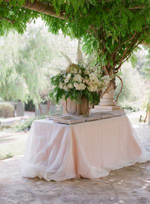 Ivory Green Blush Wedding Station