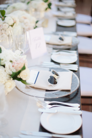 Ivory and Blue Tabletop