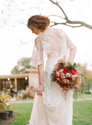 Lace Detailing on Bridal Gown