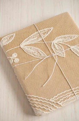 Lace Gift Wrap Idea from Sweet Paul