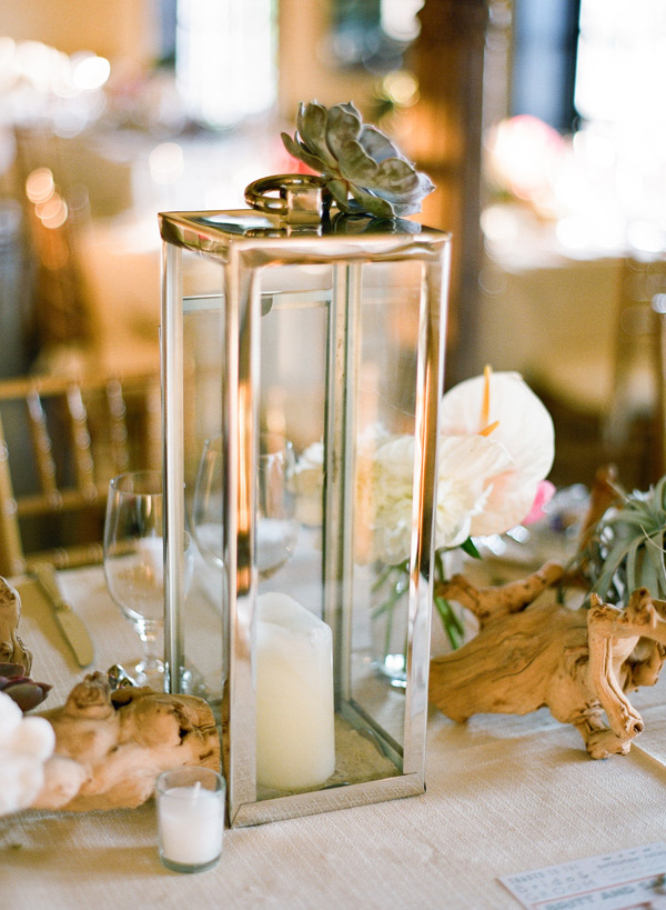 Lantern and Candle Centerpiece