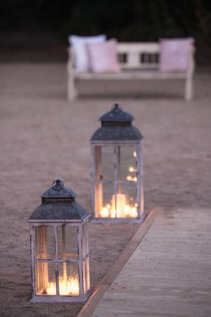 Lanterns with Votives Inside