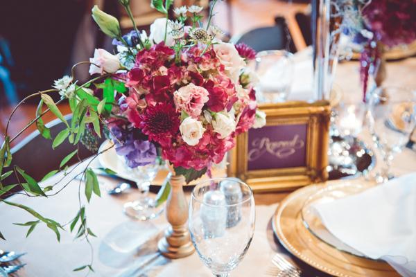 Lavender, Purple, and Green Floral Arrangement