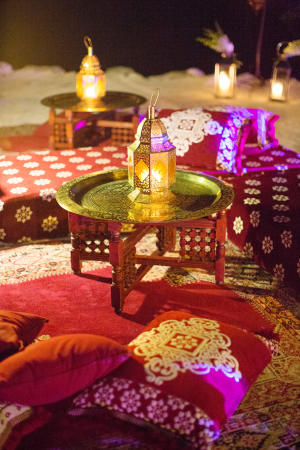 Middle Eastern Inspired Wedding Lounge Area