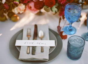 Modern Calligraphy Place Setting