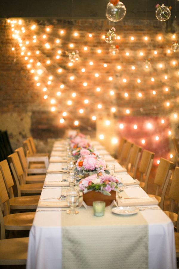 Modern Rustic Loft Wedding Reception