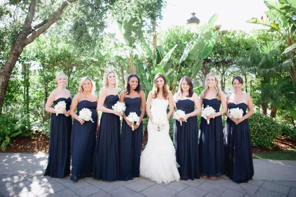 Navy Strapless Bridesmaids