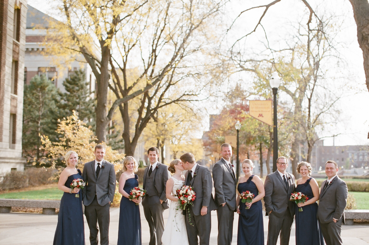 Navy and Gray Wedding Party Elizabeth Anne Designs The