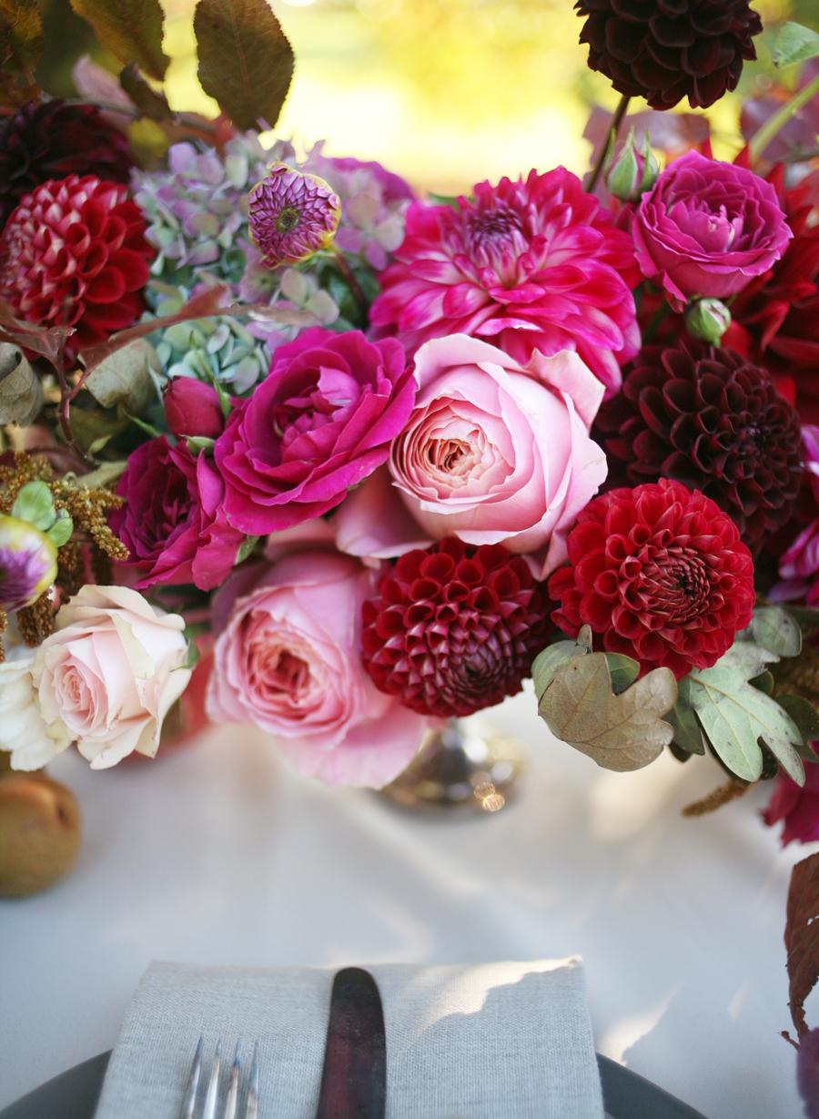 Ombre Red Floral Centerpiece - Elizabeth Anne Designs: The Wedding Blog
