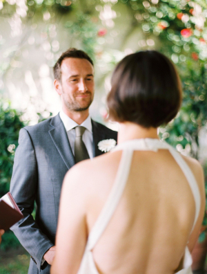 Open Back Vintage Bridal Gown
