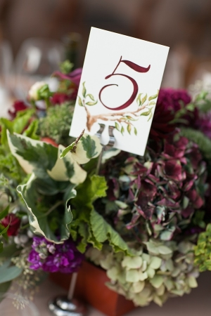 Painted Table Number