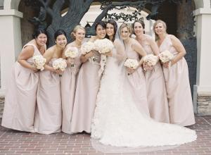 Pale Pink Bridesmaids Dresses1