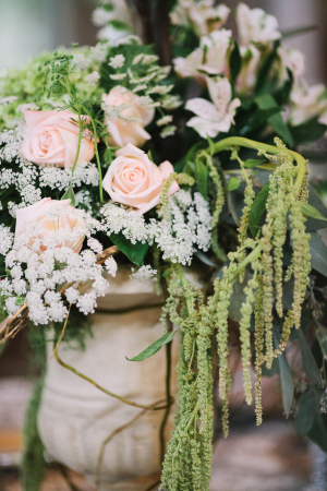 Pale Pink and Green Centerpiece
