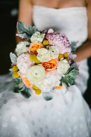 Pastel Flower and Succulent Bouquet