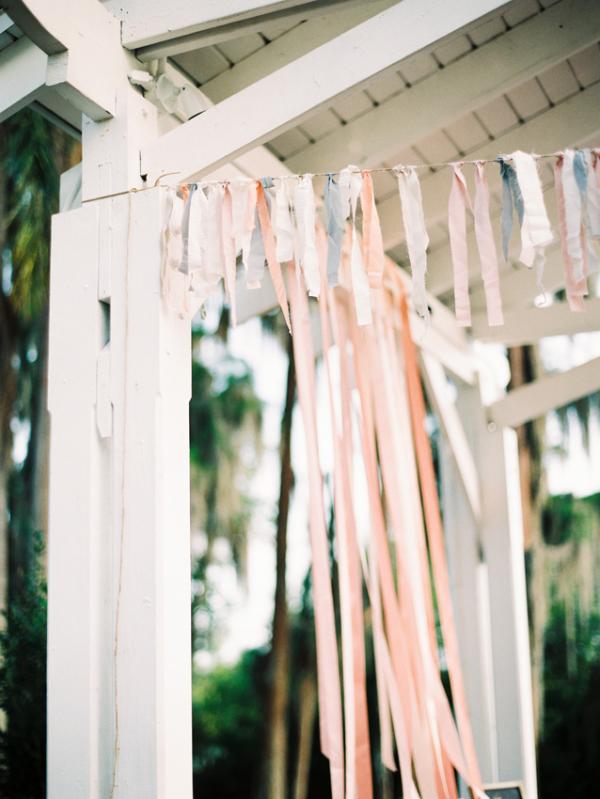 pastel wedding streamers