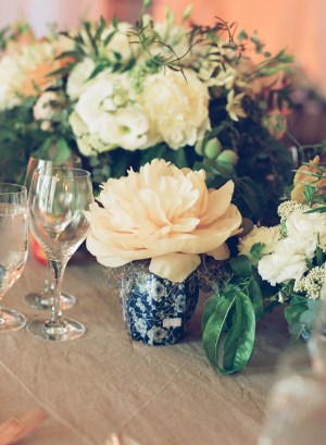 Peach Ivory Green Wedding Flowers