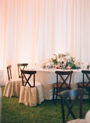 Peach Wedding Reception