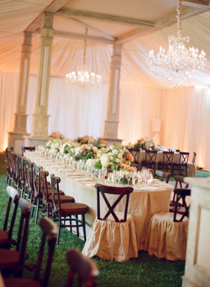 Peach and Ivory Reception