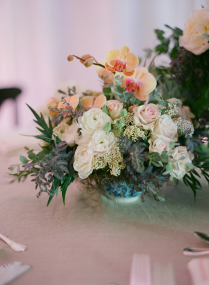 Peach and Ivory Reception Flowers