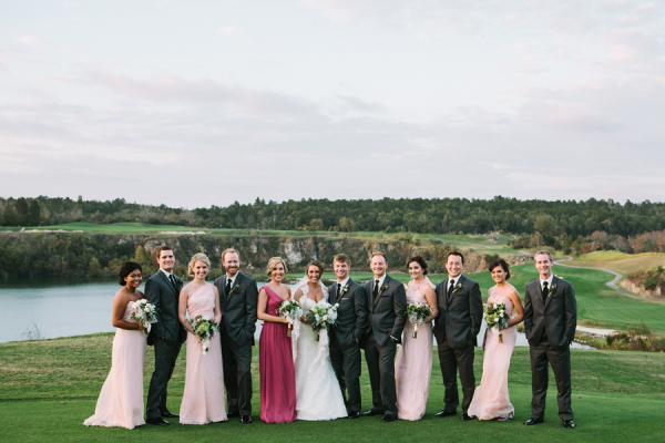 Pink Gray Berry Bridal Party