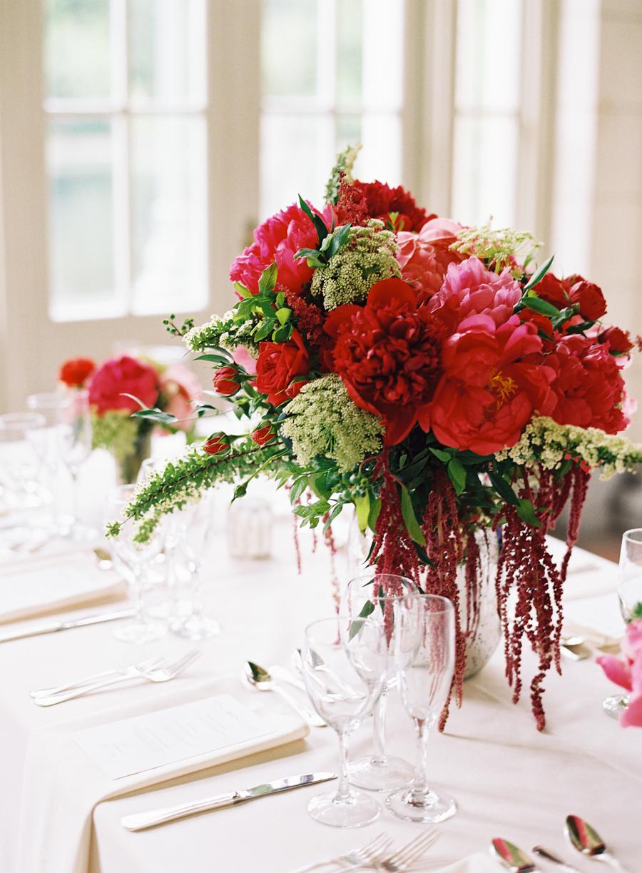 Pink red green centerpiece elizabeth anne designs the