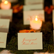 Place Cards on Sheet Moss