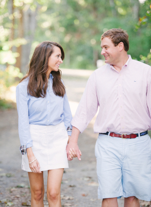 Preppy Engaged Couple