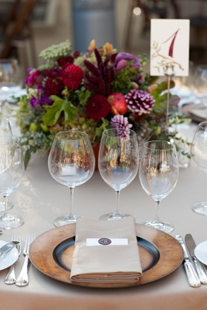 Purple Brown Place Setting