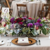 Purple Green Elegant Centerpiece
