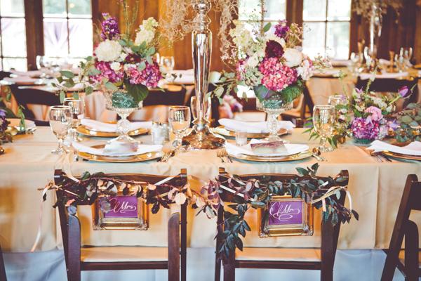 Purple, Green, and Cream Reception Decor - Elizabeth Anne Designs ...