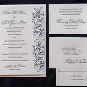 Purple Letterpress Stationery